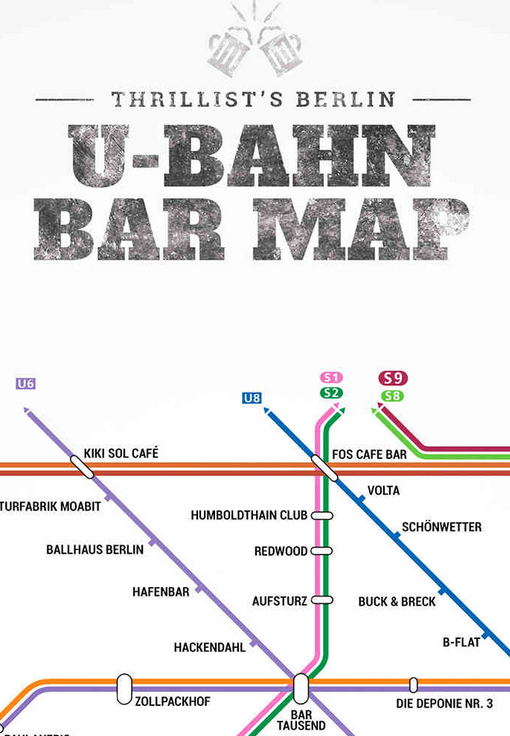 Berlin s Bahn u Bahn Netz Berlin U-bahn Bar Map